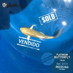 REF.3314 - Platinum Butterfly 14cm