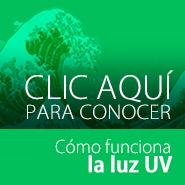 Tratamiento de agua verde con luz UV